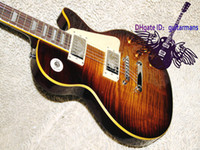 best price shopping - Best Price Custom shop R9 Tiger Flame Electric Guitar Frets Binding