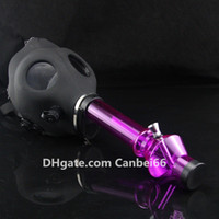 Wholesale Gas Mask Water Pipe Sealed Acrylic Hookah Pipe Vaporizer Filter Smoking Pipe