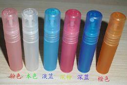 Wholesale 5ML Spray Bottle Perfume Pen Empty Plastic Liquid Mist Spray Sub bottling Colors Perfume Atomizer Tube