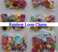 Jelly, Glow Celtic Children's Mixed Girl Assortment Charms for Rainbow Loom Silicone Bracelets Small Pendant Mini Rubber Band Charm Pack 20 bag
