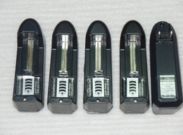 Wholesale - E Cig Charger electronic cigarette chagers 18350 18650 14500 16340 Rechargeable Dry Battery US or EU Wall Charger WL-EC-200