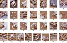 """50 style free Mixed Order 8"""" 925 Sterling Silver Plated Multi Styles Fashion Charms Bangle Bracelets 10pcs lot"""