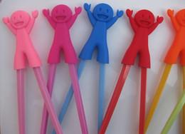 Animales libres en venta-El nuevo animal del color del caramelo que aprende los palillos de los palillos que entrenan los palillos seguros 1000pcs / lot del regalo del palillo del silicón libera el envío