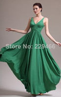 Reference Images V-Neck Organza WP17 Wholese Spaghetti Strap Lime Green Fashionable V-neck Long Form Evening Dresses Bridesmaid Dress 2014