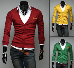 Wholesale Hot sale Men s sweater fashion cardigan sweater V neck knitting outerwear casual cardigan sweater