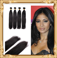 Wholesale DHL A Brazilian hair extensions Straight Human Hair Weave quot quot No Odor No Shedding High Grade Quality Hair Weft
