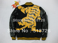 Jackets Men Cotton Tiger Printing Men coat BBC Billionaire Boys Club baseball jacket Pu sleeves s-xxl