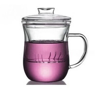Wholesale heat resisting ml double wall glass tea cups with high quality