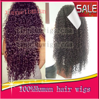 Wholesale High Quality Kinky Curly Brazilian Virgin human hair Color B Full lace wig with Lace front wig african american wigs