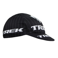 Wholesale Trek Pro Team cycling caps Mens Bike hats in polyester Trek Factory Racing Bike Caps Black Free Size