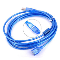 1.5M 2M 3m 10ft USB 2.0 Câble d'extension mâle à femelle pour ordinateur Cellphone Printer Data Sync Charge Cord