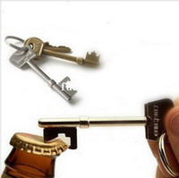 Wholesale Key Shape Bottle Beer Can Opener Portable Keychain Soda Tab Bottle Opener