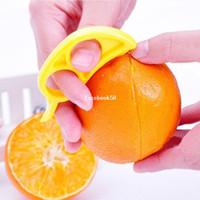 Wholesale 10Pcs Easy Opener Lemon Orange Peeler Slicer Cutter Plastic