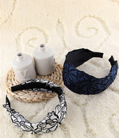 Wholesale New Rose embroidery hoop headband hair jewelry broadside temperament Fan head ornaments factory direct
