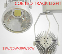 Wholesale COB LED Track Lights New Style COB LED Track Lamps Downlights w w w w LED Tracking Lamps