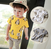 Summer shirts - 2014 Summer Clothing New style Boys Casual T Shirt Pure cotton Short sleeve Pororo Children T Shirt Kids T Shirts size TX585