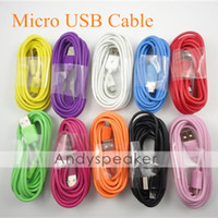 For Samsung   Micro USB Cable for Galaxy S3 S4 Note 3 9500 9300 S3 Cord Adapter for HTC Blackberry Sync Charge 1 2 3M Colorful