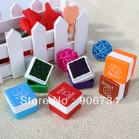 Wholesale 6 colors Lovely Mini Teachers Stampers Praise Reward Stamps Motivation Sticker School Hot Sell