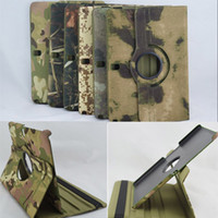 Wholesale 360 rotary rotating camouflage design folio leather case cover skin shell for Samsung Galaxy Note Edition P600 case