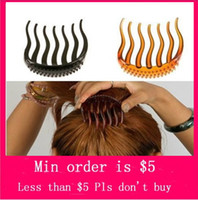 Barrettes & Clips american volume - Min Order Mix Jewelry order Bump It Up Volume Inserts Hair Clip For Ponytail Bouffant Styles Hair Comb H0087
