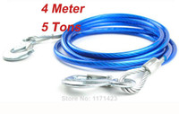 Wholesale Car towing ropes M for all car Load weight Tons cable for pull car Auto Tow Cable Steel hook