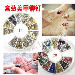 Wholesale 3D Acrylic Metal Nail Art Decoration Rhinestones Wheel Alloy Nail Studs Cell Phone Accessories