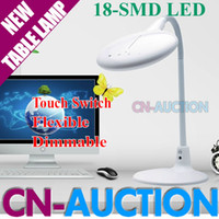Wholesale FS W SMD LED Touch dimmable Table Lamp Flexible Color Temperature Adjustable Desk Lamp Reading Work Study Lamp CN T10
