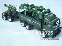 5-7 Years Truck Metal Free Shipping Simulation Rocket Gun,Plastic Figure, World War II WW2 Scene Model Military Truck Toy For Children