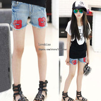 Shorts Girl Summer Fashion Short Jeans Child Clothing Girls Shorts Blue Jeans Denim Shorts Ripped Jeans Kids Summer Shorts Girl Clothes Children Casual Pants