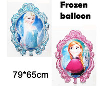 Wholesale Frozen Princess Elsa Anna Aluminum Blowing Balloon For Children Days Party Decoration Latest cartoon modelling empty mirror snow princess