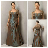 Reference Images Organza Floor-Length Sexy Strapless Applique Beaded A Line Floor Length Taffeta Mother of the Bride Dresses With Jacket 2014 New Arrival
