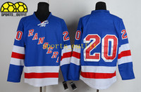 Ice Hockey Men Full Cheap Rangers Team Jerseys Blue #20 Chris Kreider Jersey Brand 2014 Stanley Cup Final Ice Hockey Jerseys for Men High Quality Sports Uniform