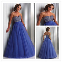 Reference Images Sweetheart Chiffon Elegant Sweetheart Tulle Ball Gown Prom Dresses 2014 New Fashion Beadwork Bodice Long Evening Gowns New Arrival