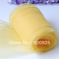Wedding Event & Party Supplies H01154T 10 X Dark Yellow Chair Cover Sashes Bow Table Runners For Wedding Party