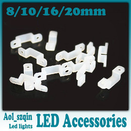 10mm 12mm 14mm 17mm 22mm Silica Gel Silicon Silicone Clip Folder Holder for 5630 5050 3528 LED Strip 1000pcs/lot