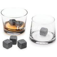 Wholesale Bling Recommend Whisky Stone Ice Melts With Velvet Storage Pouch