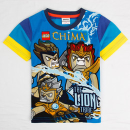 Wholesale nova new design shirt cartoon Lego Legends of Chima y to y boys summer tees cotton childrens clothes pieces per C4933