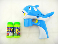 8-11 Years bubble gun - automatic electric light music large bubble gun two bottles of water