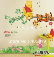 art park - 38 quot quot AY703 Vigny Park Bear Friends Wall Sticker Hi Quality PVC Removable Tigger Cartoon Room Decor Mixable English Packing