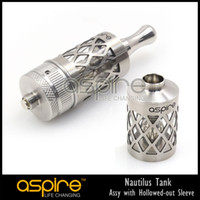 Replaceable 5.0ml Metal Wholesale - Booking Start Unique and original aspire nautilus tank hollowed-out sleeve 2014 free shipping