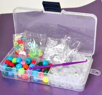 Unisex 12-14 Years Multicolor Best Rubber Bands kit UV beads Rainbow Loom beads Refills round crystal bead DIY Bracelets ( 90 UV beads +60 colourful beads+ 100 s slips)