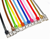 Wholesale 10 pieces per Cheappest fashion belts hot selling sweet multi color girl s strap coarse candy color belt