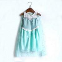 Summer children smock - huge stocks Frozen Princess Anna Elsa Sofia sleeveless Children Baby Girl Party sequins Tutu performance lace Dresses smock LY