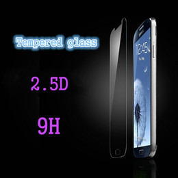 New premium real Retail 9H 0.2MM 2.5D Tempered Glass Screen Protectors Films Explosion Proof For Samsung galaxy S4  Mini I9190 With Package