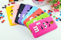 4s dos Prix-Rainbow Bean Housse en Silicone en Chocolat 3D Mignon MM MM Back Cover pour iPhone 6G 6 Plus 4G 4S 5G 5S 5C Samsung Galaxy S5 S4 S3 Note3 Note4
