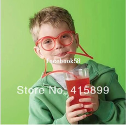Wholesale Unique Flexible Novelty Soft Glasses Straw Glasses Drinking Tube Fun Drinking