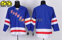 blank hockey jerseys - 2014 Payoffs Ice Hockey Jerseys Blank Hockey Jersey Blue Rangers Team Hockey Jersey Brand Sportswear High Quality Men s Uniform Hot Sale