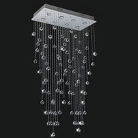 Modern Hotel 25 ~ 30sq.m Free shipping top sales square 8 lights modern living room lamp L800*W300*H1500mm crystal chandeliers , modern pendant lamp home lighting