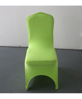 Cheap Wedding Chair apple green Best Spandex / Polyester  chair covers