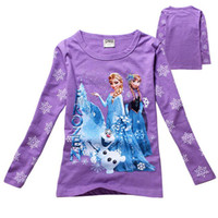 Red purple pink Frozen long sleeve top frozen costume Anna E...